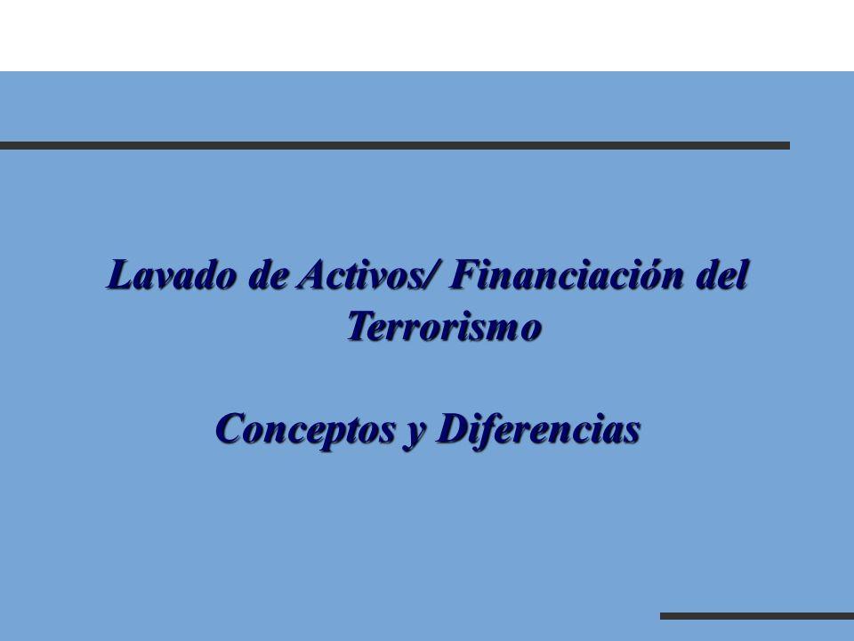 Lavado de Activos/ Financiación del Terrorismo Conceptos y Diferencias