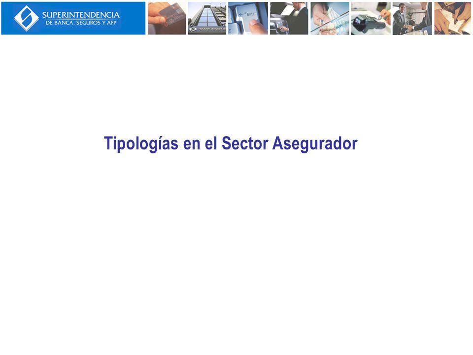 Tipologías en el Sector Asegurador