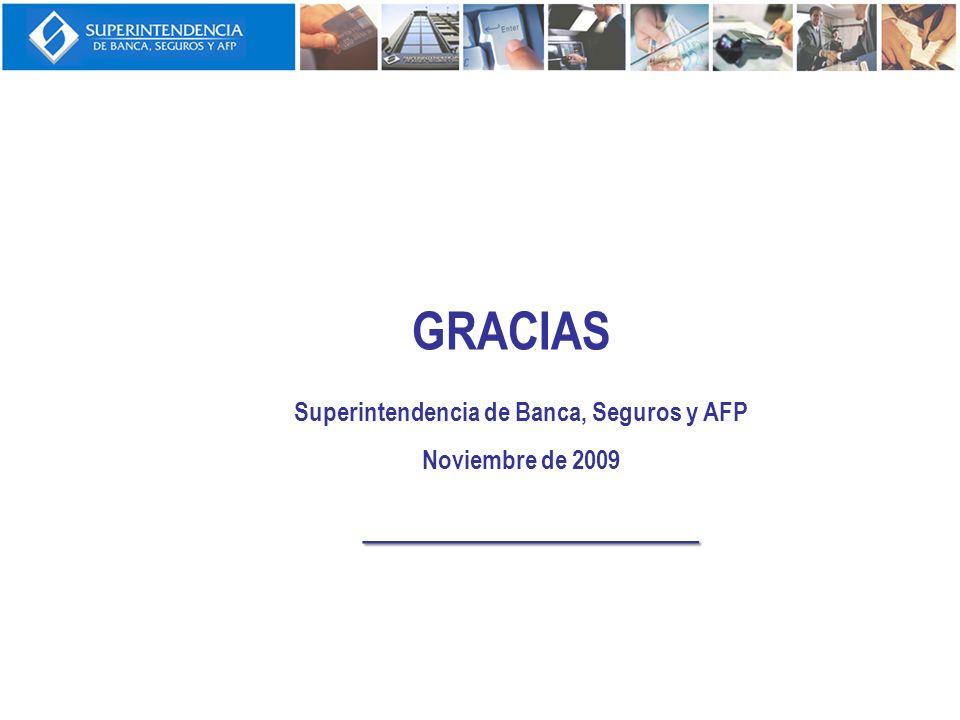 ______________ GRACIAS Superintendencia de Banca, Seguros y AFP Noviembre de 2009