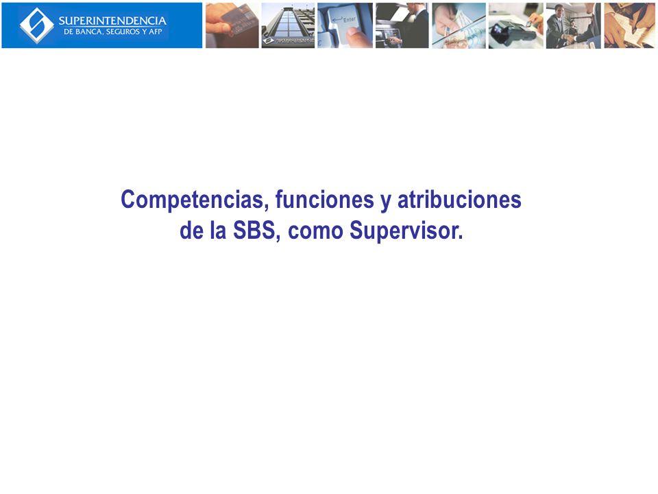Competencias, atribuciones y funciones de la SBS, como Supervisor (1) El rol de la SBS como supervisor en la prevención del LA y el FT es el siguiente: La SBS es el supervisor integral de las empresas de los sistemas financiero, de seguros y privado de fondos de pensiones, así como del Banco Agropecuario, Banco de la Nación, FOGAPI, Fondo Mivivienda, COFIDE, y aquellas que le sean encomendadas por una ley especial, según sea el caso.