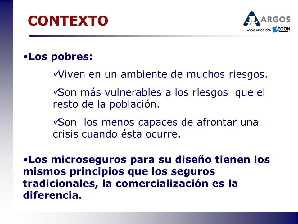 El RETO PARA SER RENTABLE MICROSEGUROS Se debe ofrecer una prima baja para un mercado limitado en recursos y con flujos de efectivo irregulares y escasos.