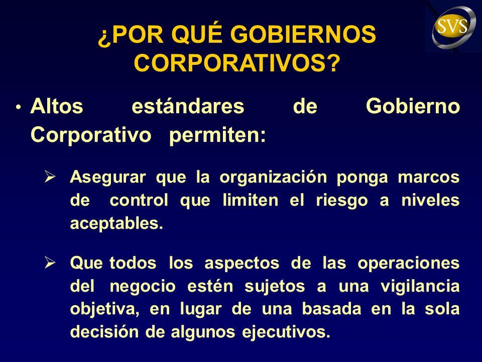 CONCLUSIONES Los buenos gobiernos corporativos no pueden sólo arraigarse en la legislación.