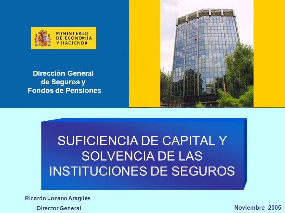 DGSFP 22 de 29 Dirección General de Seguros y Fondos de Pensiones Ricardo Lozano Aragüés Estudios de impacto.