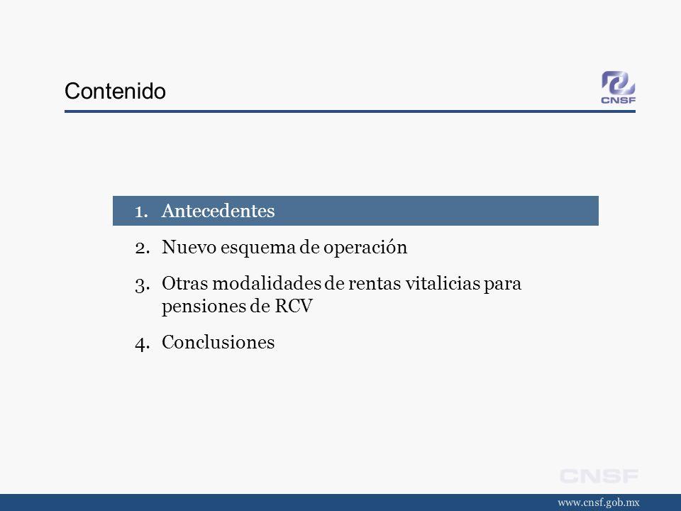 Antecedentes (1/9) entrada en vigor El nuevo sistema de pensiones entró en vigor en México el 1 de julio de 1997.
