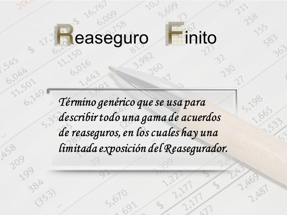 easeguroinito Término genérico que se usa para describir todo una gama de acuerdos de reaseguros, en los cuales hay una limitada exposición del Reasegurador.