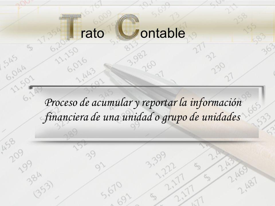 ratoontable Proceso de acumular y reportar la información financiera de una unidad o grupo de unidades