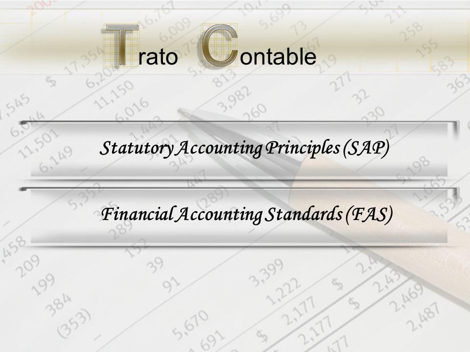 ratoontable Statutory Accounting Principles (SAP)Financial Accounting Standards (FAS)