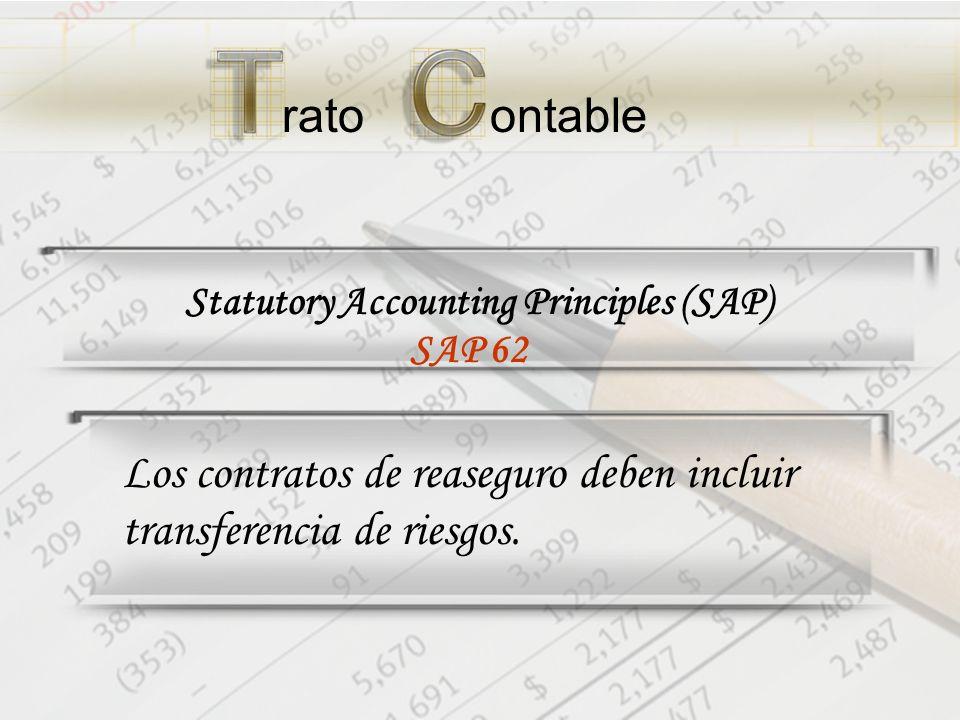 ratoontable Statutory Accounting Principles (SAP) Los contratos de reaseguro deben incluir transferencia de riesgos.
