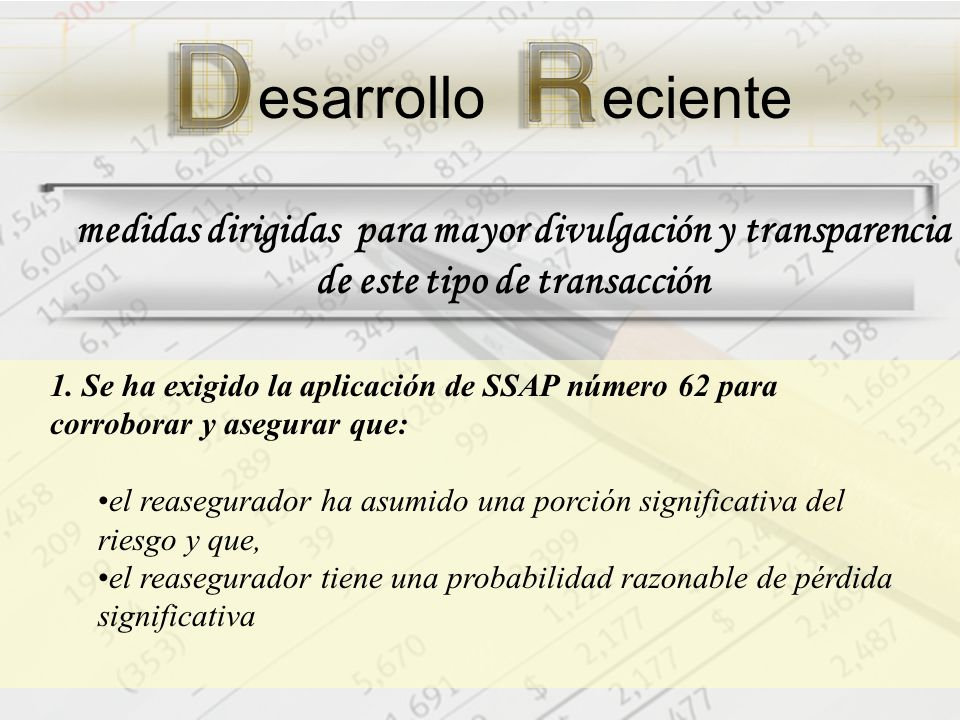medidas dirigidas para mayor divulgación y transparencia de este tipo de transacción 1.