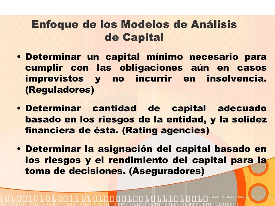 Revisar el Requisito de Capital Fijo No toma en consideración ni distingue entre el tamaño del asegurador, la estructura organizacional, la calidad de la suscripción y de sus inversiones, y los riesgos típicos a los que está expuesto el asegurador.