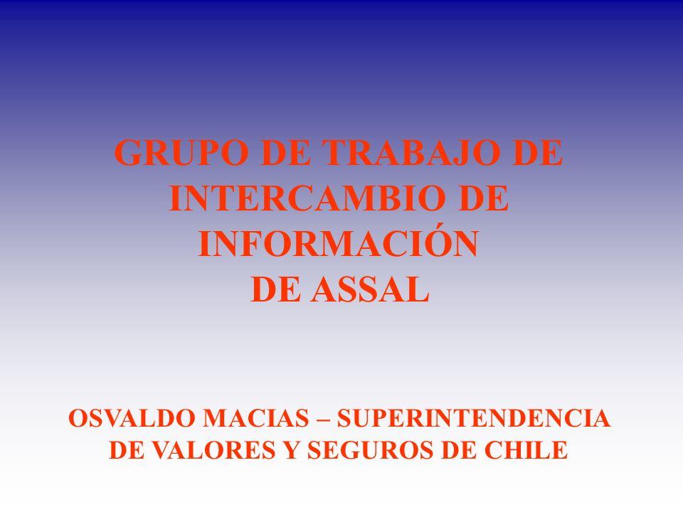 GRUPO DE TRABAJO DE INTERCAMBIO DE INFORMACIÓN DE ASSAL OSVALDO MACIAS – SUPERINTENDENCIA DE VALORES Y SEGUROS DE CHILE
