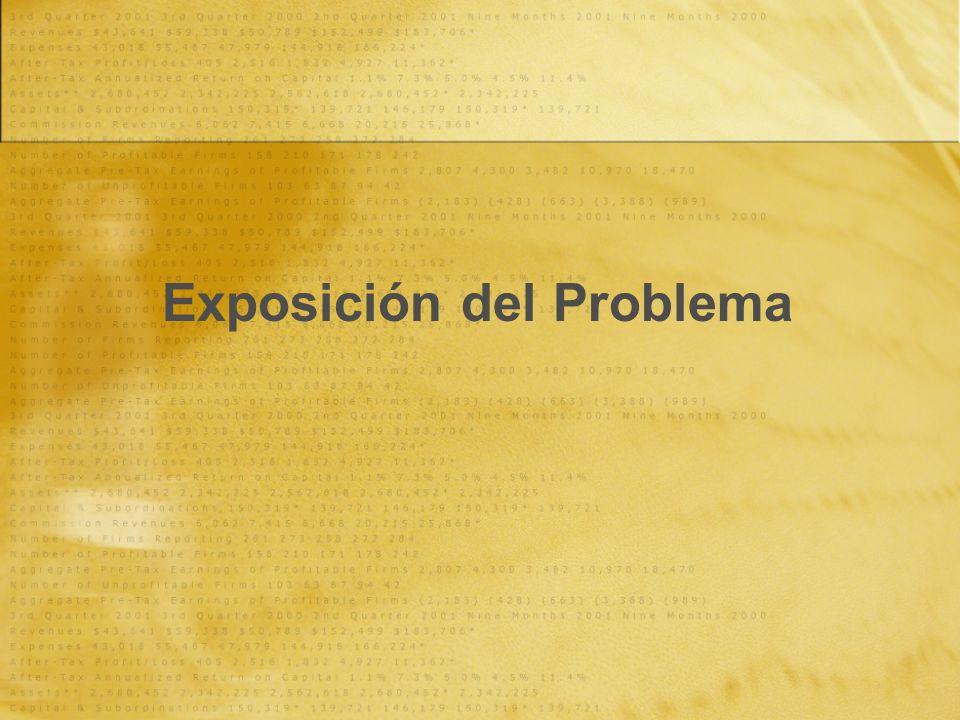 Exposición del Problema