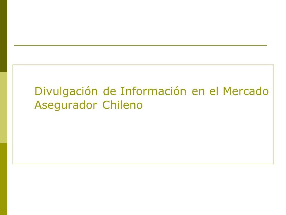 Divulgación de Información en el Mercado Asegurador Chileno