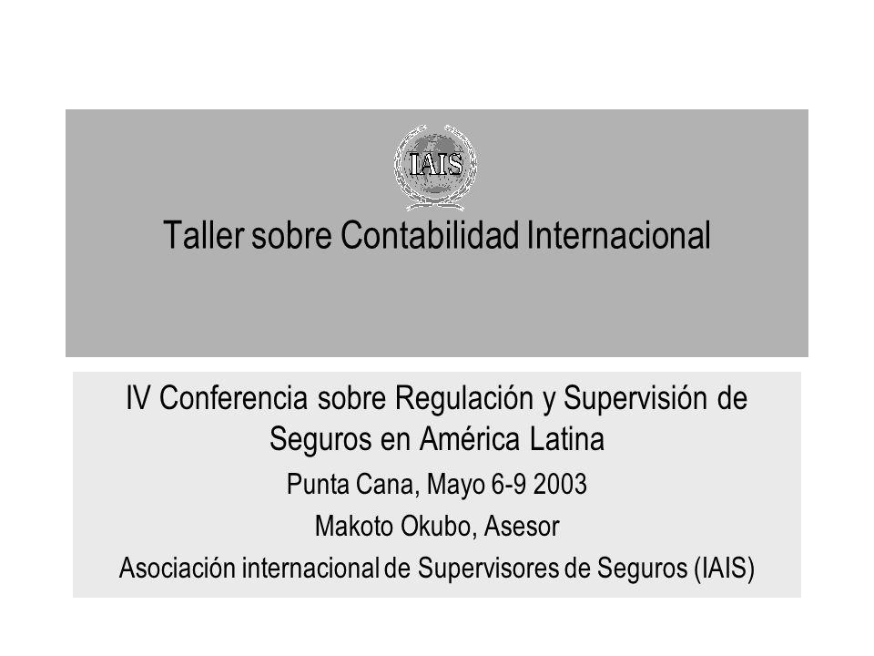 Taller sobre Contabilidad Internacional IV Conferencia sobre Regulación y Supervisión de Seguros en América Latina Punta Cana, Mayo 6-9 2003 Makoto Ok