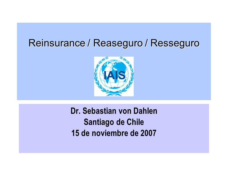 Reinsurance / Reaseguro / Resseguro Dr.