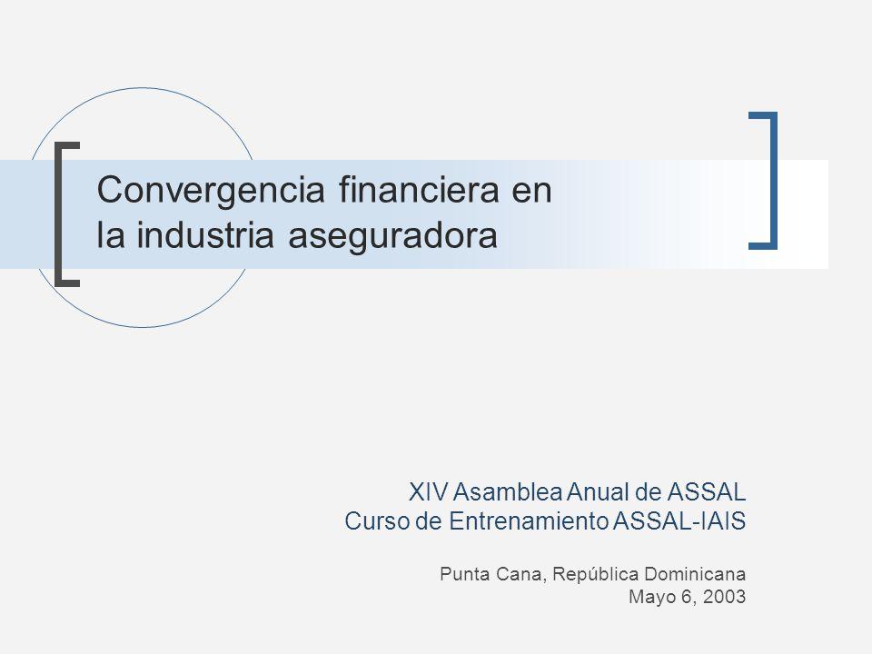 Convergencia financiera en la industria aseguradora XIV Asamblea Anual de ASSAL Curso de Entrenamiento ASSAL-IAIS Punta Cana, República Dominicana May