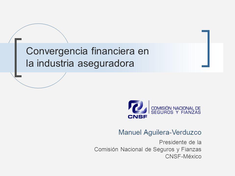 Convergencia financiera en seguros Aseguradoras Intensidad de capital Liquidez de los pasivos Administración de activos Administración de activos vinculados a pensiones y retiro Bancos comerciales Fondos de Inversión y de pensiones Bancos de inversión / empresas de valores
