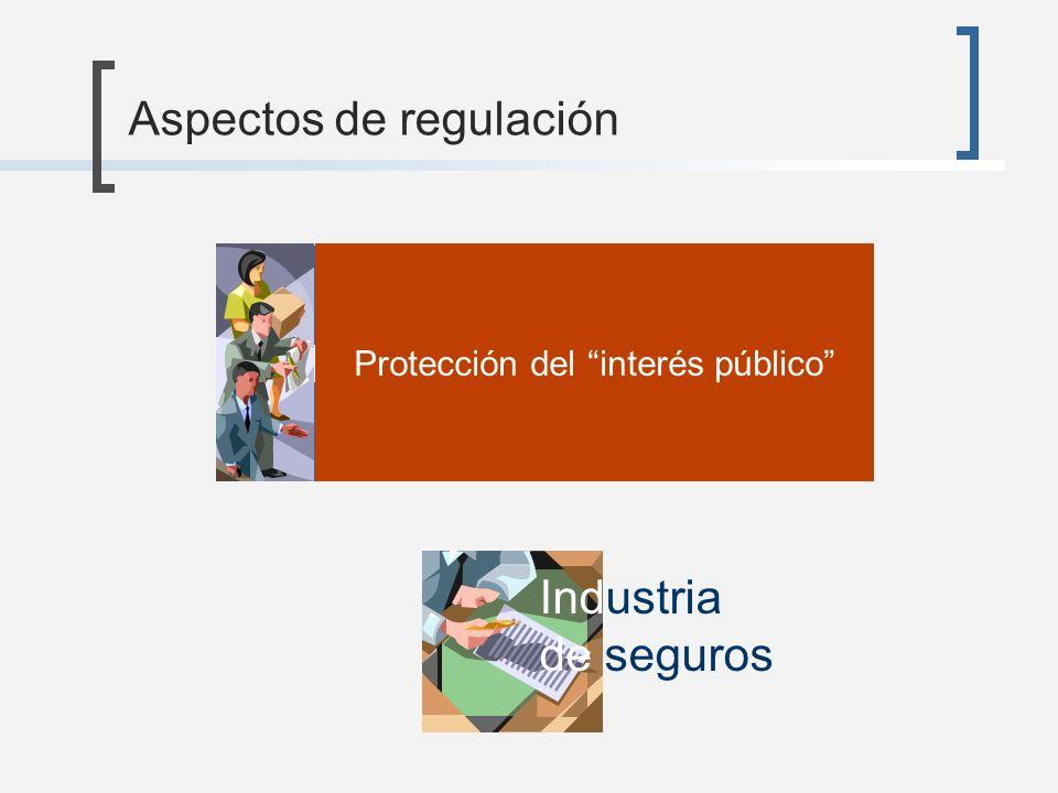 Administración de recursos de terceros Vinculación con la economía real Protección del interés público Aspectos de regulación Industria de seguros