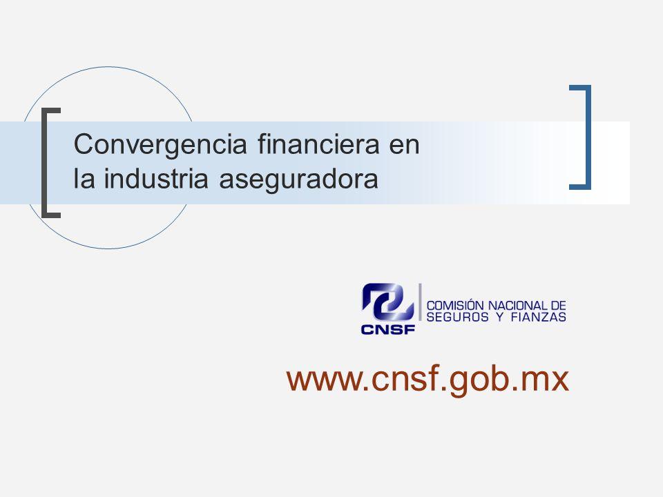 Convergencia financiera en la industria aseguradora www.cnsf.gob.mx