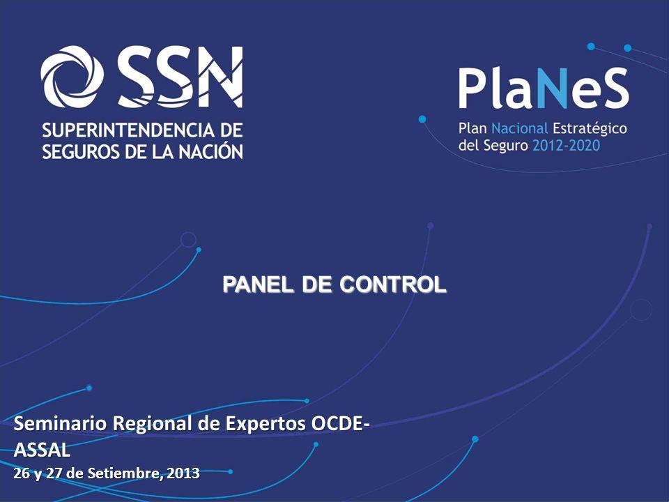 JORNADAS … PANEL DE CONTROL Seminario Regional de Expertos OCDE- ASSAL 26 y 27 de Setiembre, 2013