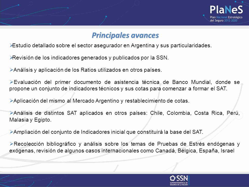 Principales avances Principales avances Estudio detallado sobre el sector asegurador en Argentina y sus particularidades.