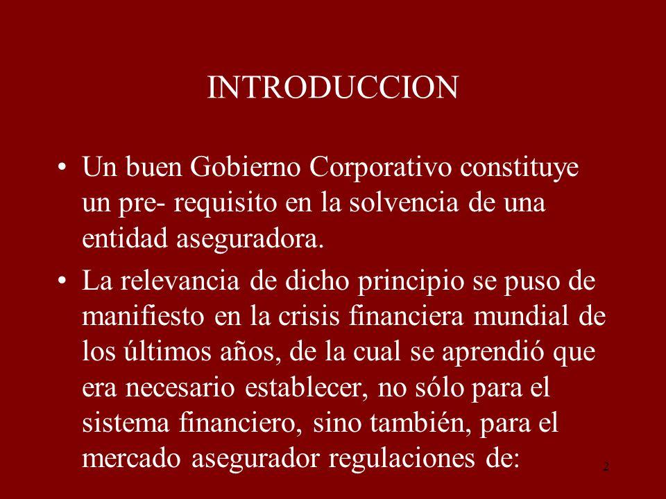 13 El marco de Gobierno de una compañía de seguros debe garantizar una gestión eficaz de la aseguradora.