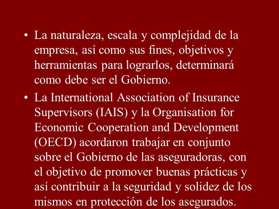 35 y los intereses de los asegurados y accionistas y los responsables de las funciones de control, tales como: los auditores internos, la gestión de riesgo, el cumplimiento de normas.