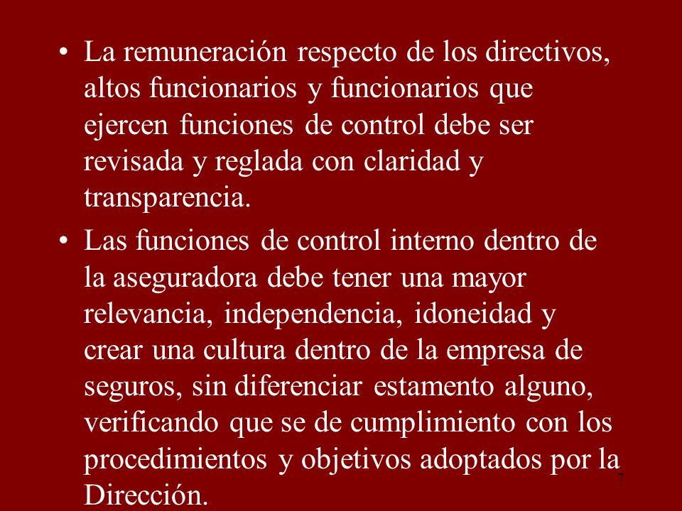 18 a) Se diluya su responsabilidad o vea reducida su capacidad para desempeñar las funciones delegadas, siendo plenamente responsable en el cumplimiento de las mismas, b) Permita interferencias, de ninguna especie, a sus atribuciones ya sea individual o de grupo.