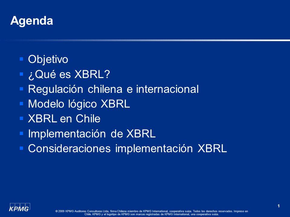 SEMINARIO DE CAPACITACION REGIONAL – ASSAL – FIDES 2009: Implementación del Estándar XBRL 25 de Noviembre 2009 Advisory