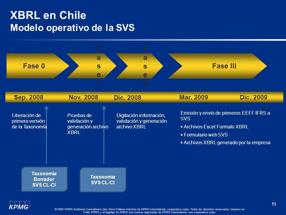 12 © 2009 KPMG Auditores Consultores Ltda, firma Chilena miembro de KPMG International, cooperativa suiza. Todos los derechos reservados. Impreso en C