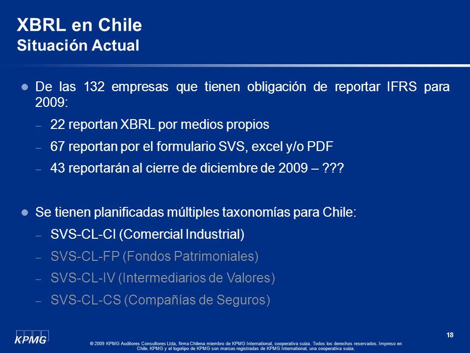 17 © 2009 KPMG Auditores Consultores Ltda, firma Chilena miembro de KPMG International, cooperativa suiza. Todos los derechos reservados. Impreso en C
