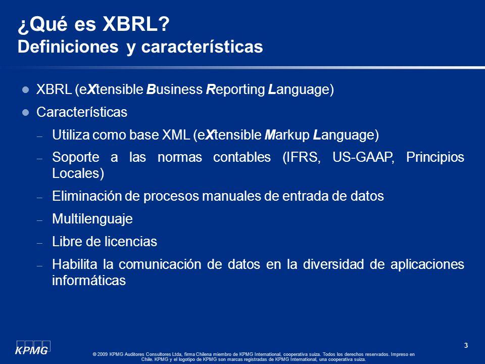 2 © 2009 KPMG Auditores Consultores Ltda, firma Chilena miembro de KPMG International, cooperativa suiza. Todos los derechos reservados. Impreso en Ch