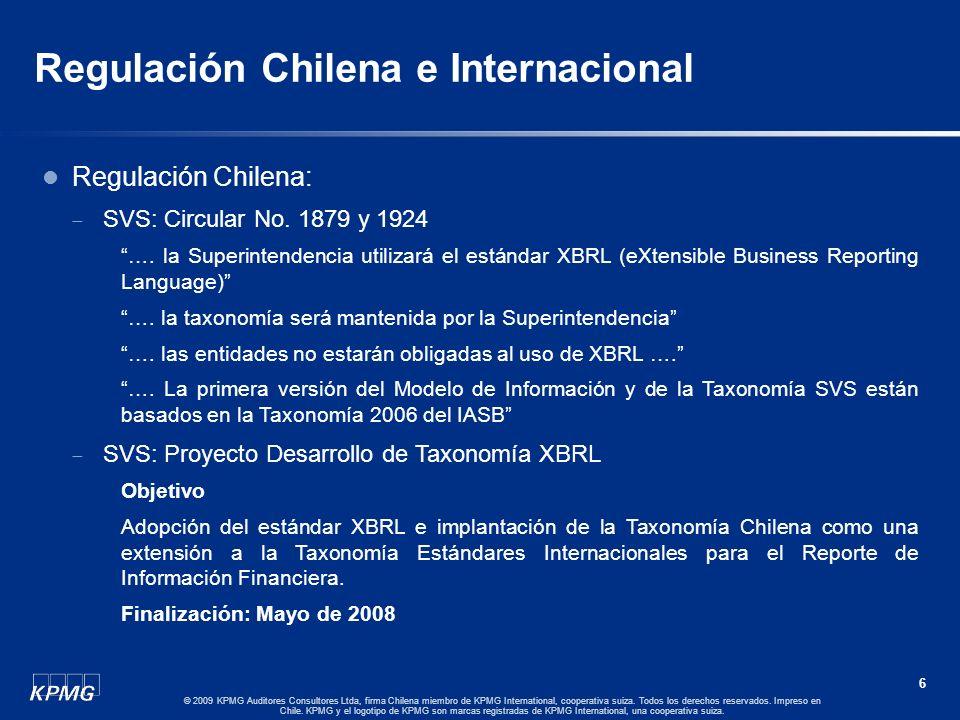 5 © 2009 KPMG Auditores Consultores Ltda, firma Chilena miembro de KPMG International, cooperativa suiza. Todos los derechos reservados. Impreso en Ch