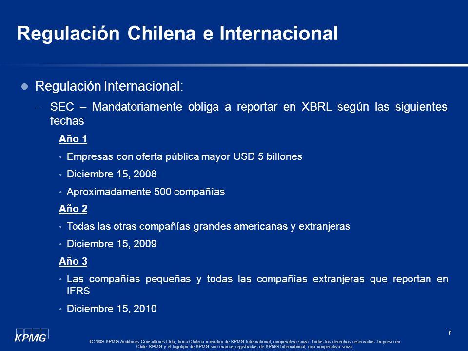 6 © 2009 KPMG Auditores Consultores Ltda, firma Chilena miembro de KPMG International, cooperativa suiza. Todos los derechos reservados. Impreso en Ch