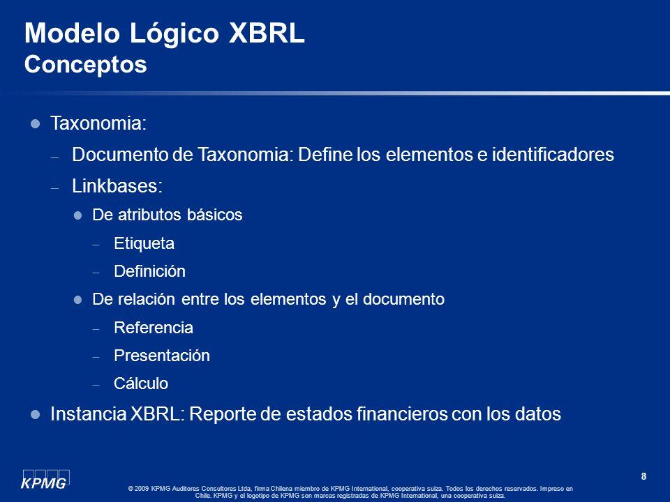 7 © 2009 KPMG Auditores Consultores Ltda, firma Chilena miembro de KPMG International, cooperativa suiza. Todos los derechos reservados. Impreso en Ch