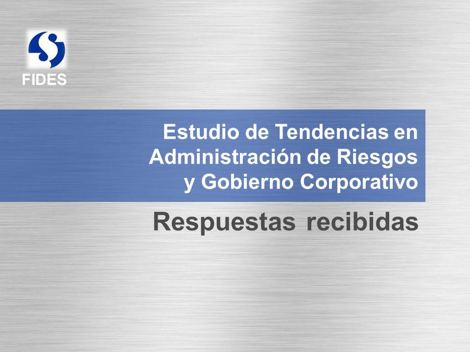 FIDES Estudio de Tendencias en Administración de Riesgos y Gobierno Corporativo Respuestas recibidas