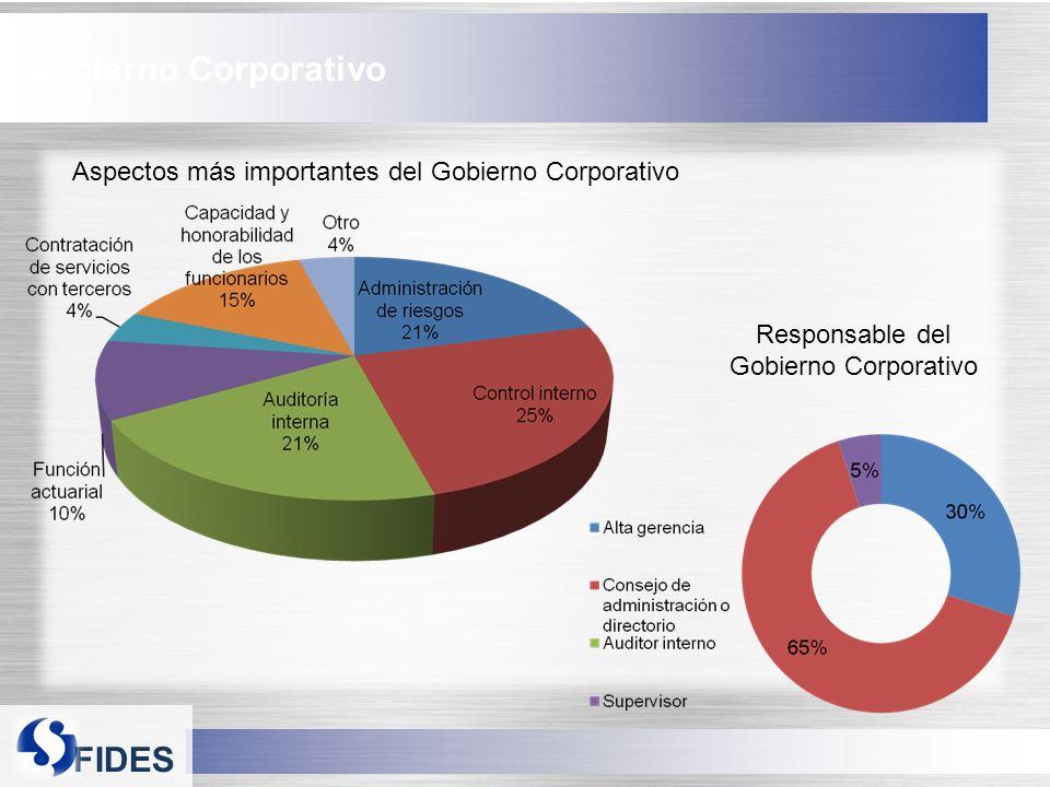 FIDES Gobierno Corporativo Aspectos más importantes del Gobierno Corporativo Responsable del Gobierno Corporativo