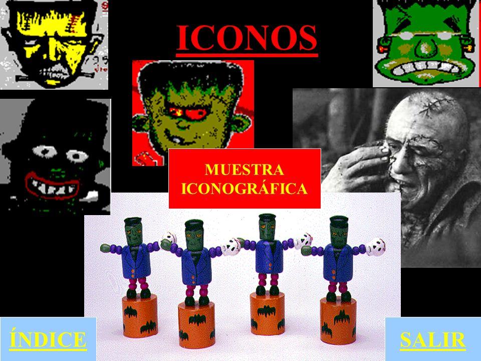 ICONOS ÍNDICE MUESTRA ICONOGRÁFICA SALIR