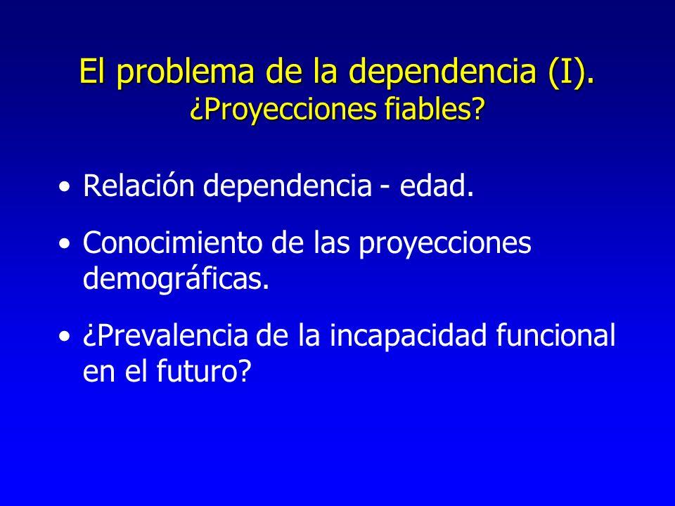 El problema de la dependencia (I). ¿Proyecciones fiables.