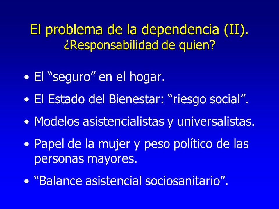 El problema de la dependencia (II). ¿Responsabilidad de quien.