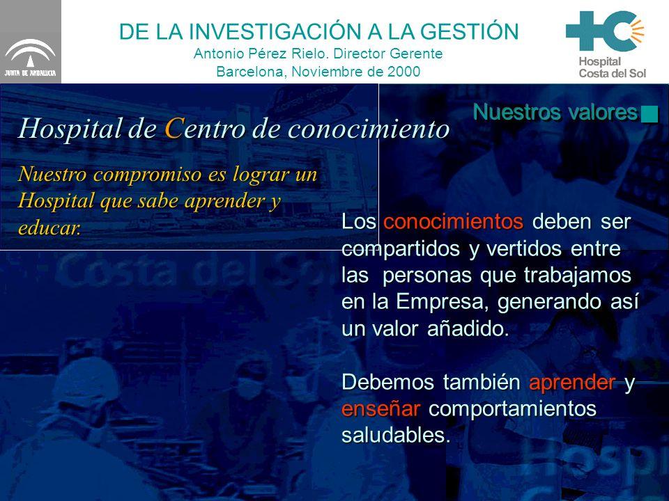 DE LA INVESTIGACIÓN A LA GESTIÓN Antonio Pérez Rielo.