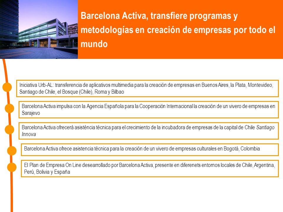 Barcelona Activa, transfiere programas y metodologías en creación de empresas por todo el mundo Iniciativa Urb-AL: transferencia de aplicativos multim