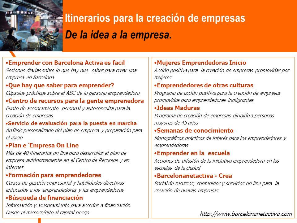 Emprender con Barcelona Activa es facil Sesiones diarias sobre lo que hay que saber para crear una empresa en Barcelona Que hay que saber para emprender.