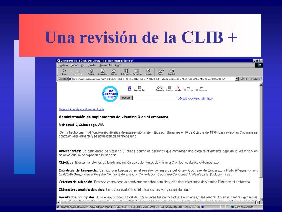 Una revisión de la CLIB +