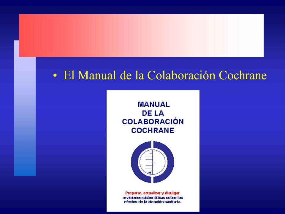 El Manual de la Colaboración Cochrane