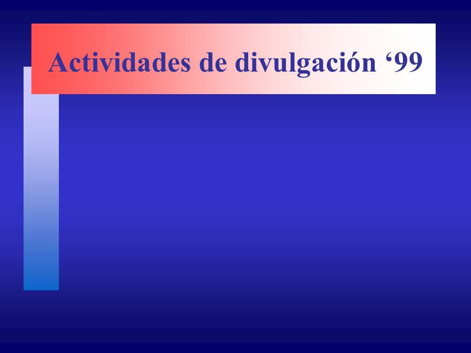 Actividades de divulgación 99