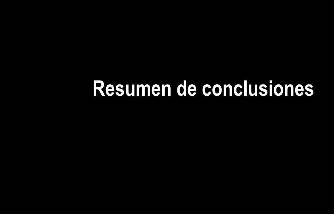 Resumen de conclusiones