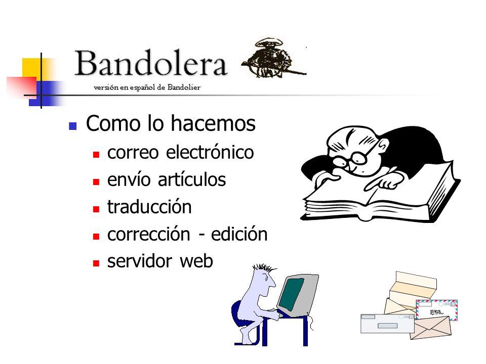 Como lo hacemos correo electrónico envío artículos traducción corrección - edición servidor web