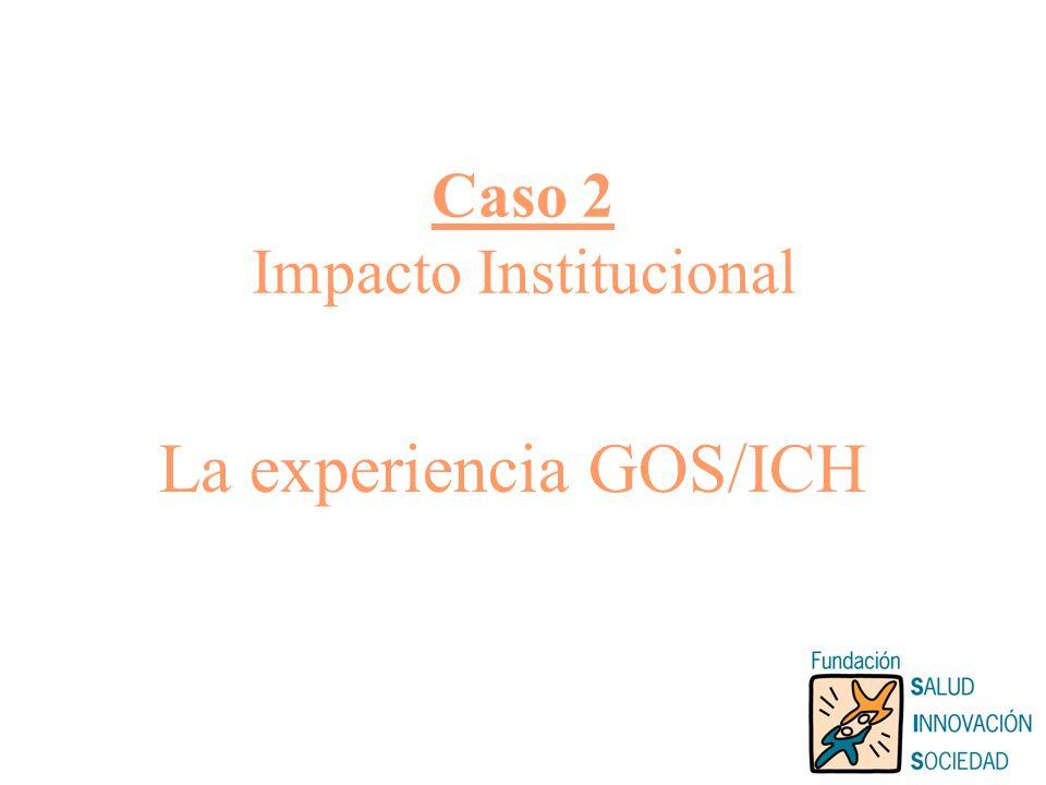 Caso 2 Impacto Institucional La experiencia GOS/ICH