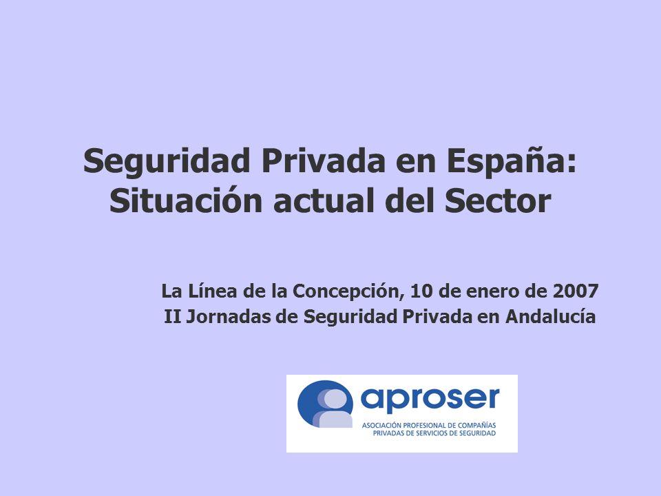 Seguridad Privada en España: Situación actual del Sector La Línea de la Concepción, 10 de enero de 2007 II Jornadas de Seguridad Privada en Andalucía